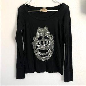 Juicy couture original M black long sleeve top